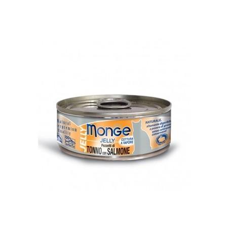 Monge Pezzetti di Tonno Bonito con pregiato Salmone in gelatina