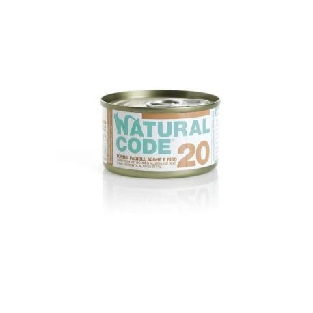 Natural Code Adult Cat 20 Tonno, Fagioli e Alghe