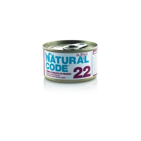 Natural Code Adult Cat 22 Tonno e Fegato di Manzo