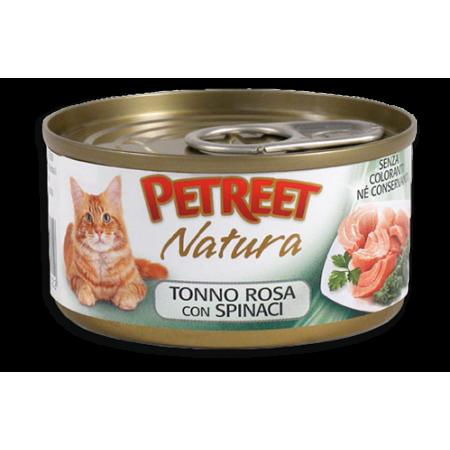 Petreet Natura - Tonno Rosa con Spinaci