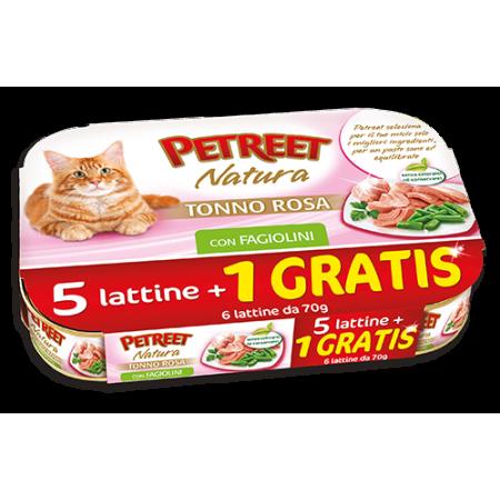 Petreet Natura - Multipack Tonno Rosa con Fagiolini