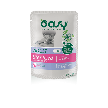 Oasy Bocconcini in Salsa - Adult Sterilized con Salmone