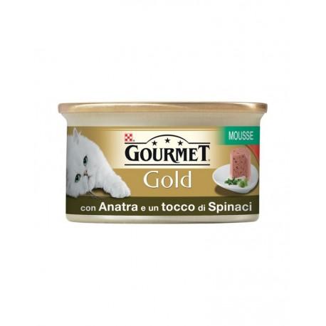 Gourmet Gold Mousse con Anatra e un Tocco di Spinaci