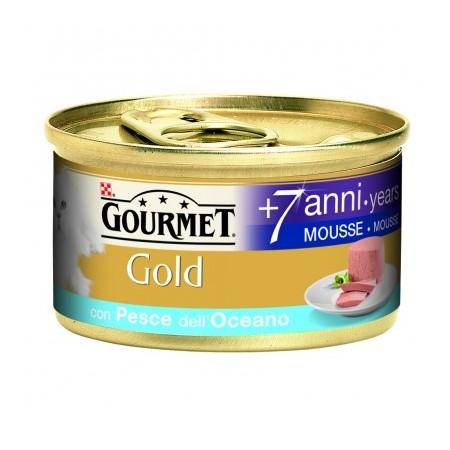 Gourmet Gold - Mousse Senior 7+ con Pesce dell'Oceano