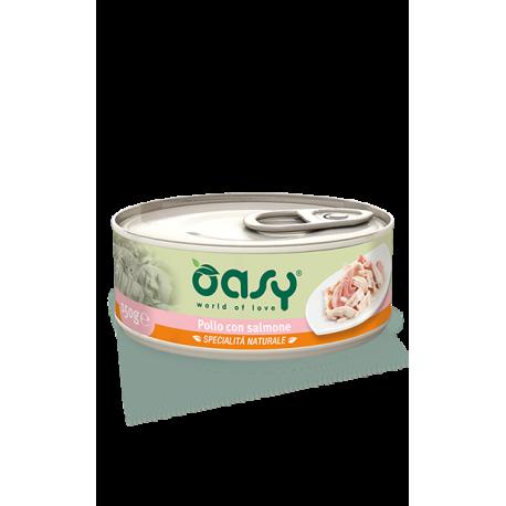 Oasy Wet Cat Lattina - Pollo con Salmone