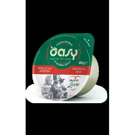 Oasy Wet Cat More Love Green Cup -Pollo con Anatra