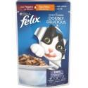Felix Doubly Delicious con Tacchino e Fegato in Gelatina