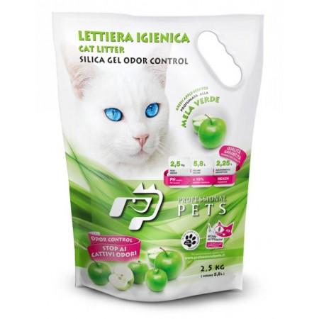 Professional Pets Lettiera Gel di Silicio - Mela Verde