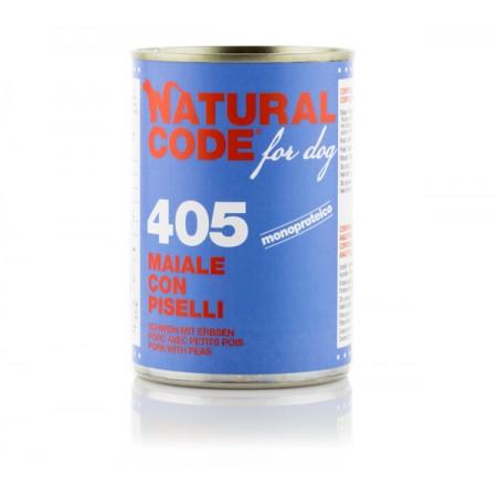 Natural Code Dog Patè 405 Maiale Con Piselli