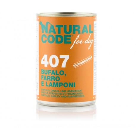 Natural Code Patè 407 Bufalo Farro e Lamponi