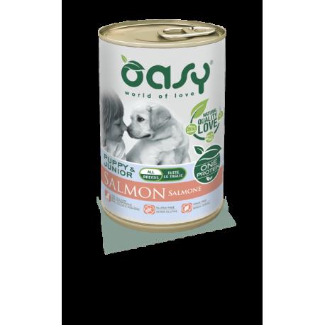Oasy Umido Cane Monoproteico - Puppy & Junior Al Salmone