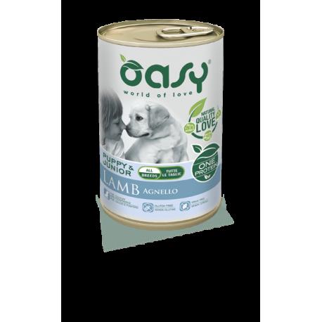 Oasy Umido Cane Monoproteico - Puppy & Junior Agnello