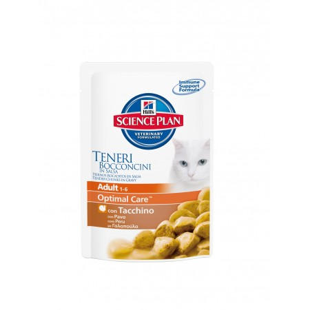 Hill's Adult Optimal Care Cat Bustine con Tacchino