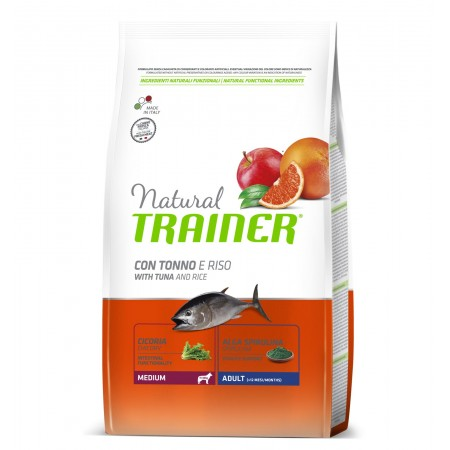 Natural Trainer Adult Medium con Tonno e Riso