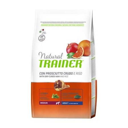 Natural Trainer Adult Medium con Prosciutto Crudo e Riso