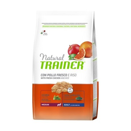 Natural Trainer Adult Medium con Pollo Fresco e Riso