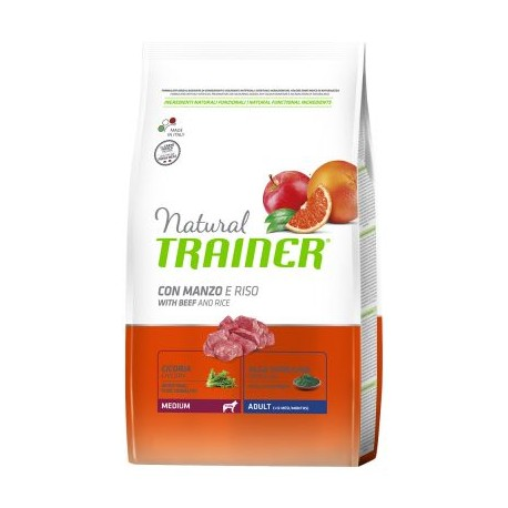 Natural Trainer Adult Medium con Manzo e Riso