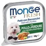 Monge Fresh Paté e Bocconcini con Pollo e Verdure
