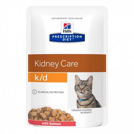 Hill's Prescripion Diet  Feline K/D Con Salmone Bustine