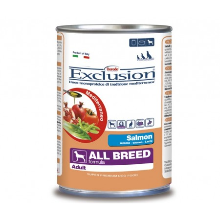 Exclusion Mediterraneo Adult Salmone Umido All Breeds